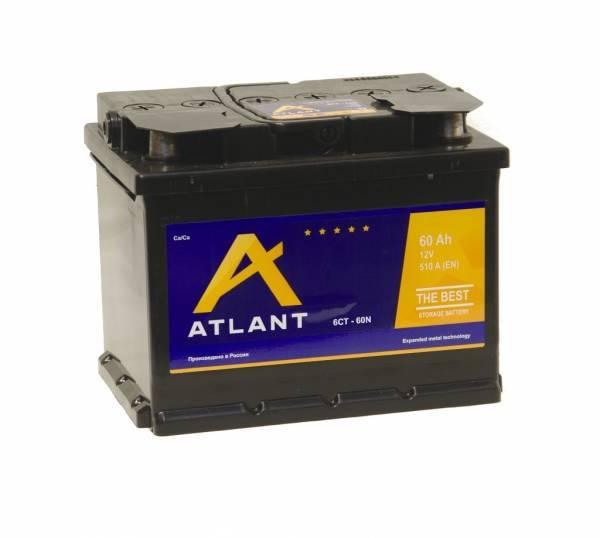 Аккумулятор ATLANT 6СТ- 60 N