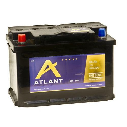 Аккумулятор ATLANT 6СТ- 66 ач о.п.