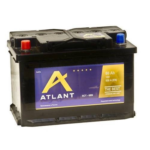 Аккумулятор ATLANT 6СТ- 66 ач п.п.