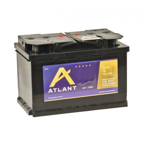 Аккумулятор ATLANT 6СТ- 75 ач о.п.
