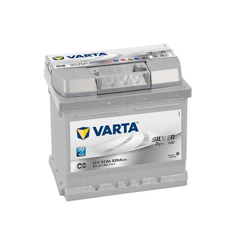 Аккумулятор Varta SD 6CT-52 R (C6) (о.п.) низ.